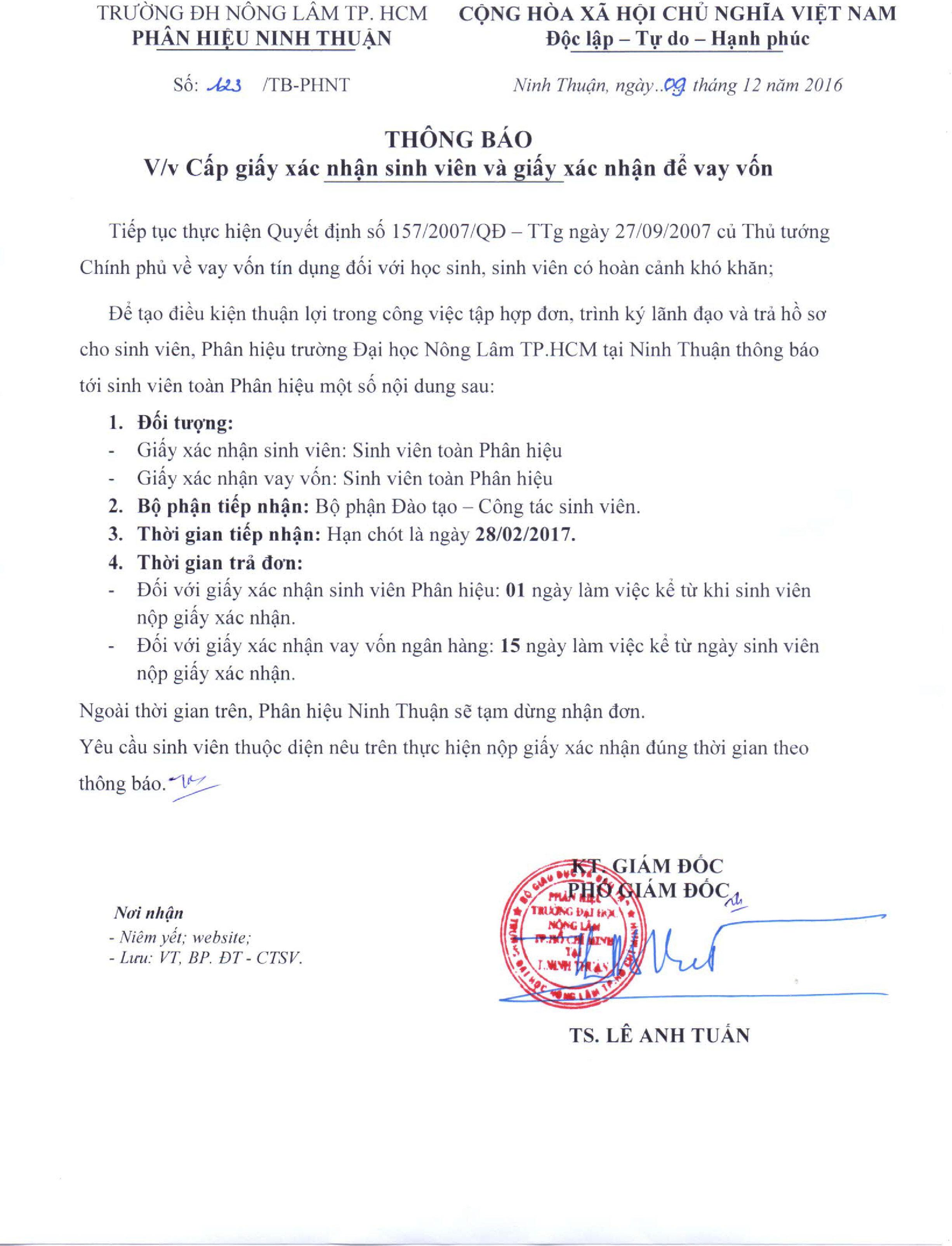 Phân Hiệu Đại Học Nông Lâm tại Ninh Thuận